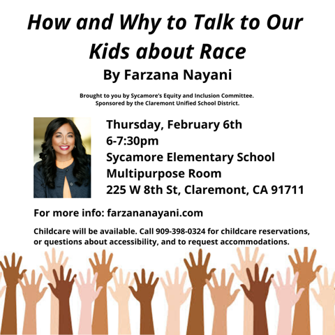 How and Why to Talk to Ours Kids About Race Flyer